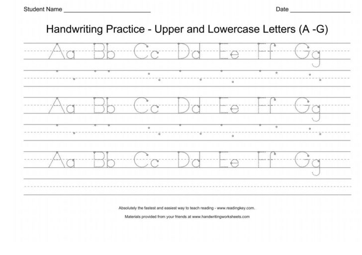 Handwriting Worksheets Uppercase And Lowercase