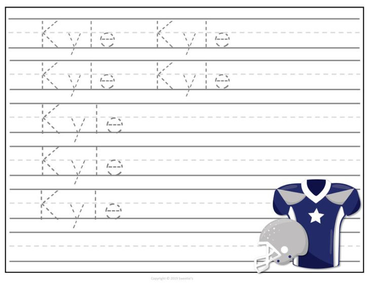 Handwriting Worksheets Personalized