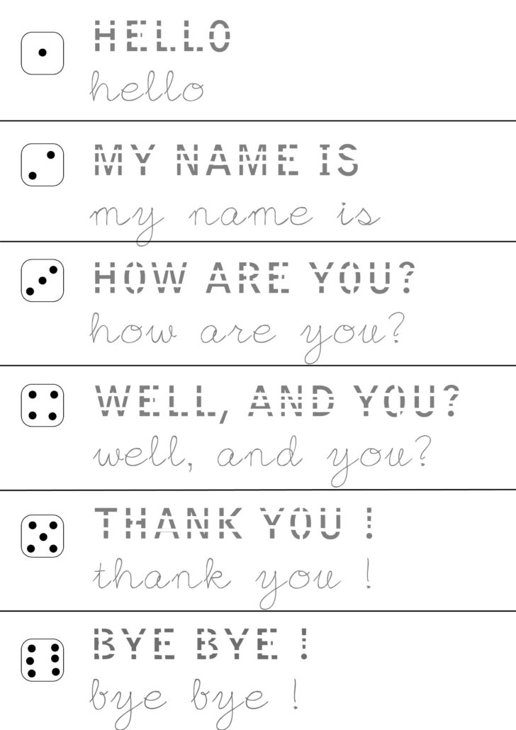 Handwriting Worksheets For 6 Year Olds