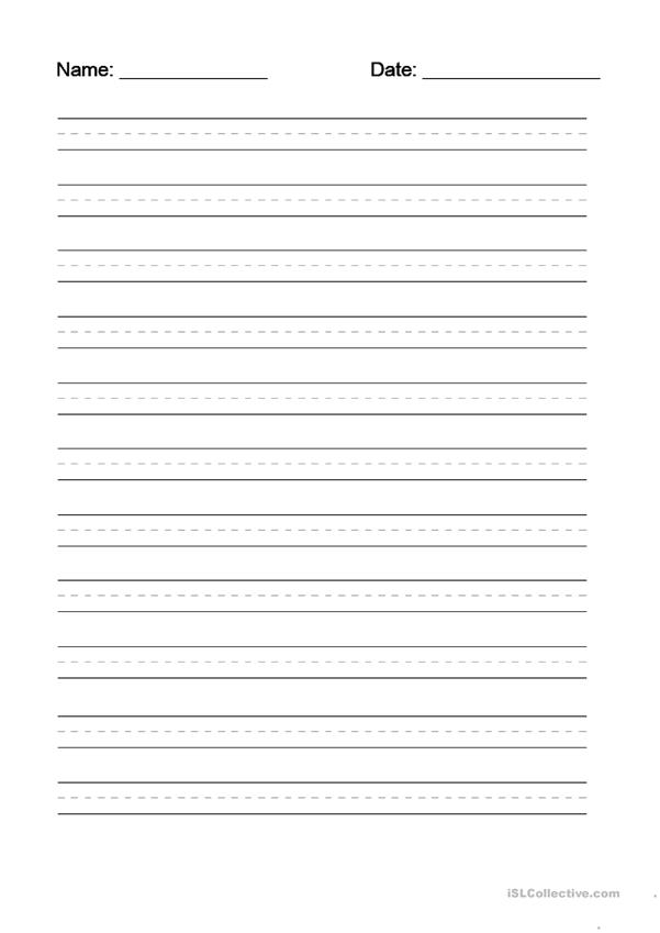 Handwriting Worksheets Dotted Lines